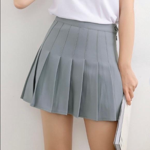 7bd277ca76 Skirts   Grey Pleated Tennis Skirt   Poshmark